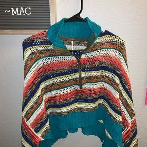 Free people cropped sweater poncho